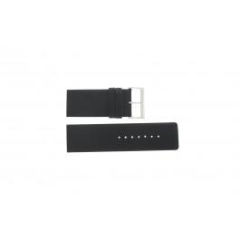 Uhrenarmband Davis BB0330 Leder Schwarz 30mm