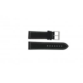 Uhrenarmband Davis BB0450 / BB0454 Leder Schwarz 24mm