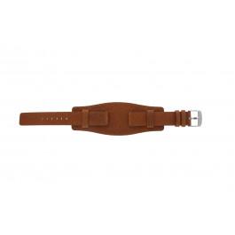 Uhrenarmband Davis B0222 Leder Cognac 18mm