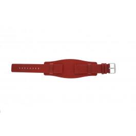Uhrenarmband Universal B0223 Leder Rot 20mm