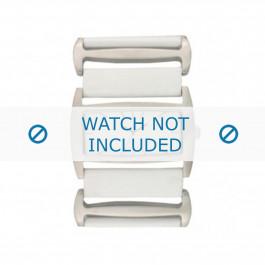 Uhrenarmband Davis BB0755 Leder Weiss 36mm