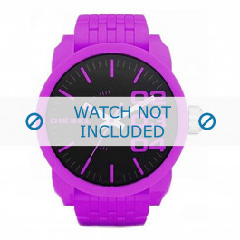 Diesel Uhrenarmband DZ1519 Kunststoff Lila 28mm