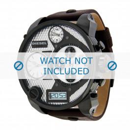 Uhrenarmband Diesel DZ7126 Leder Dunkelbraun 28mm