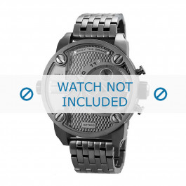 Uhrenarmband Diesel DZ7263 Stahl Anthrazitgrau 24mm