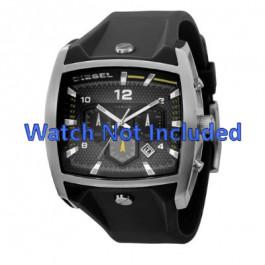 Uhrenarmband Diesel DZ4165 Silikon Schwarz 33mm