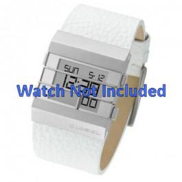 Uhrenarmband Diesel DZ7087 Leder Weiss 36mm