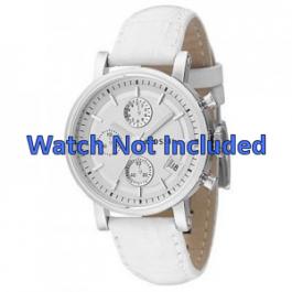 Uhrenarmband Fossil ES2202 Leder Weiss 18mm