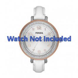 Uhrenarmband Fossil AM4362 Leder Weiss 16mm