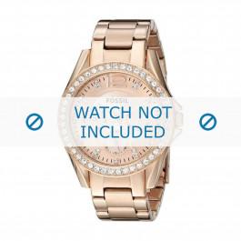Uhrenarmband Fossil ES2811 / 25XXXX Stahl Rosé 18mm