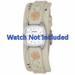 Uhrenarmband Fossil JR8782 Leder Beige 12mm