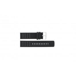 Uhrenarmband Fossil CH2493 / CH2494 Leder Schwarz 22mm