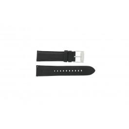 Uhrenarmband Fossil FS4745 Leder Schwarz 22mm