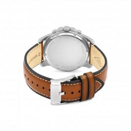 Fossil Uhrenarmband FS5210 Leder Braun 22mm + weiße nähte