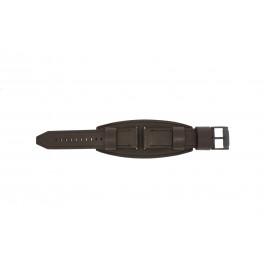 Uhrenarmband Fossil JR1365 Leder Braun 25mm