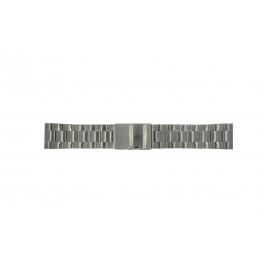 Uhrenarmband Fossil FS4662 / 12XXXX / 25XXXX Stahl Anthrazitgrau 24mm