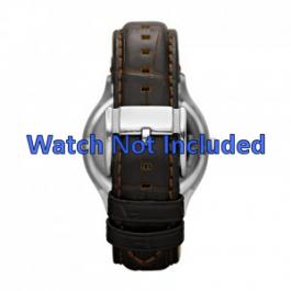Uhrenarmband Fossil FS4737 Leder Braun 22mm