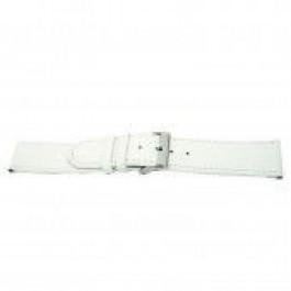 Uhrenarmband Universal I505 Leder Weiss 24mm