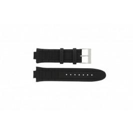 Guess Uhrenarmband W17521G2 / U12579G1 / U14002G1 / W19510G1 Leder Schwarz 12mm