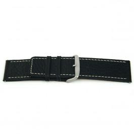 Uhrenarmband Universal J125 Leder Schwarz 26mm