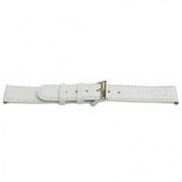 Uhrenarmband Universal E500 Leder Weiss 16mm