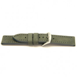 Echtes Leder Uhrenarmband grau 24mm I814