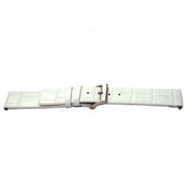 Uhrenarmband Universal I520 Kroko leder Weiss 24mm