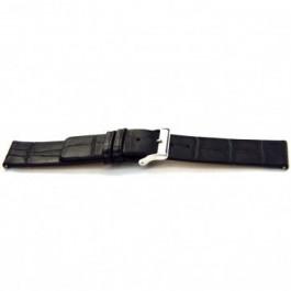 Uhrenarmband Universal G145 Leder Schwarz 20mm