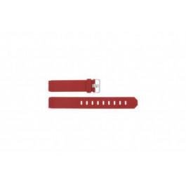 Uhrenarmband Jacob Jensen 700 / 751 / 756 / 761 / 766 Kautschuk Rot 17mm