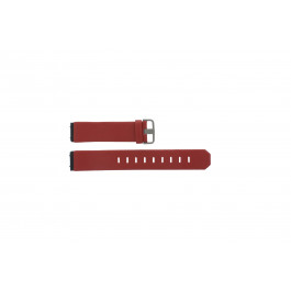 Uhrenarmband Jacob Jensen 800 Series Leder Rot 17mm
