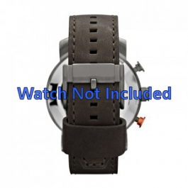 Uhrenarmband Fossil JR1419 Leder Grau 24mm