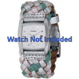 Uhrenarmband Fossil JR9018 Leder Mehrfarbig 20mm
