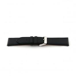 Uhrenarmband Universal I010-XL Leder Schwarz 24mm
