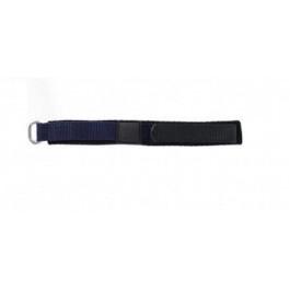 Uhrenarmband Universal KLITTENBAND 412 14mm Klettband Blau 14mm