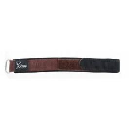 Uhrenarmband Condor KLITTENBAND 412R bruin (donker) Klettband Braun 20mm