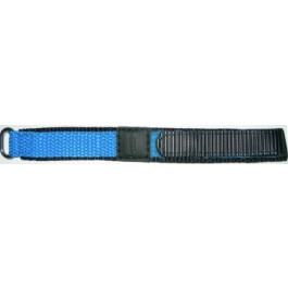 Uhrenarmband Condor KLITTENBAND 412R Licht Blauw Klettband Blau 20mm