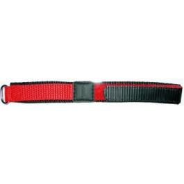 Uhrenarmband Universal KLITTENBAND 412R Klettband Rot 20mm