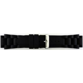 Uhrenarmband Universal SL101 Silikon Schwarz 20mm
