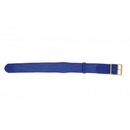 Uhrenarmband Universal PRLN.18.LB Nylon Blau 18mm