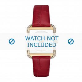 Michael Kors Uhrenarmband MK2623 Leder Rot 20mm