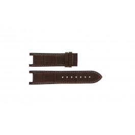 Uhrenarmband Guess GC41501G / 145003G1 / I50001G1 Leder Dunkelbraun 12.8mm