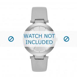 Uhrenarmband DKNY NY2460 Leder Grau 10mm