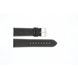 Uhrenarmband Universal 307.01 Leder Schwarz 20mm