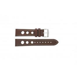 Uhrenarmband Universal 682R.02 Leder Braun 20mm