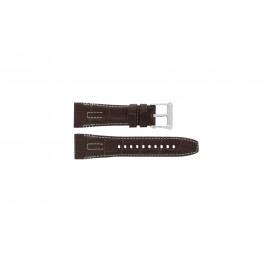 Seiko Uhrenarmband 5D44-0AE0 / SRH011P1 Leder Braun 26mm + weiße nähte