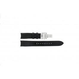 Uhrenarmband Seiko 6G34-00E0 / SRL021P1 / 4A072JL Leder Schwarz 21mm