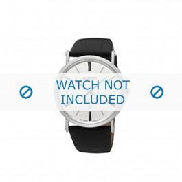 Uhrenarmband Seiko 7N39-0CA0 Leder Schwarz 24mm