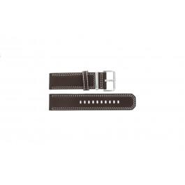 Uhrenarmband Seiko 7T62-0HM0 / SNAB71P1 / 4LP6JB Leder Braun 24mm