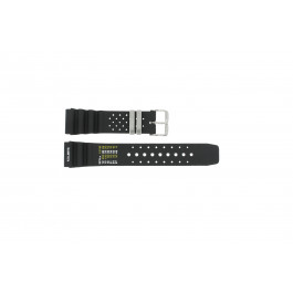 Uhrenarmband Universal SIL-8136-PST-NR85 Kautschuk Schwarz 22mm