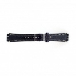 Uhrenarmband Swatch (alt.) ES.IRON-2.05 Leder Blau 19mm
