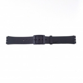 Uhrenarmband Swatch P51 Kautschuk Schwarz 17mm